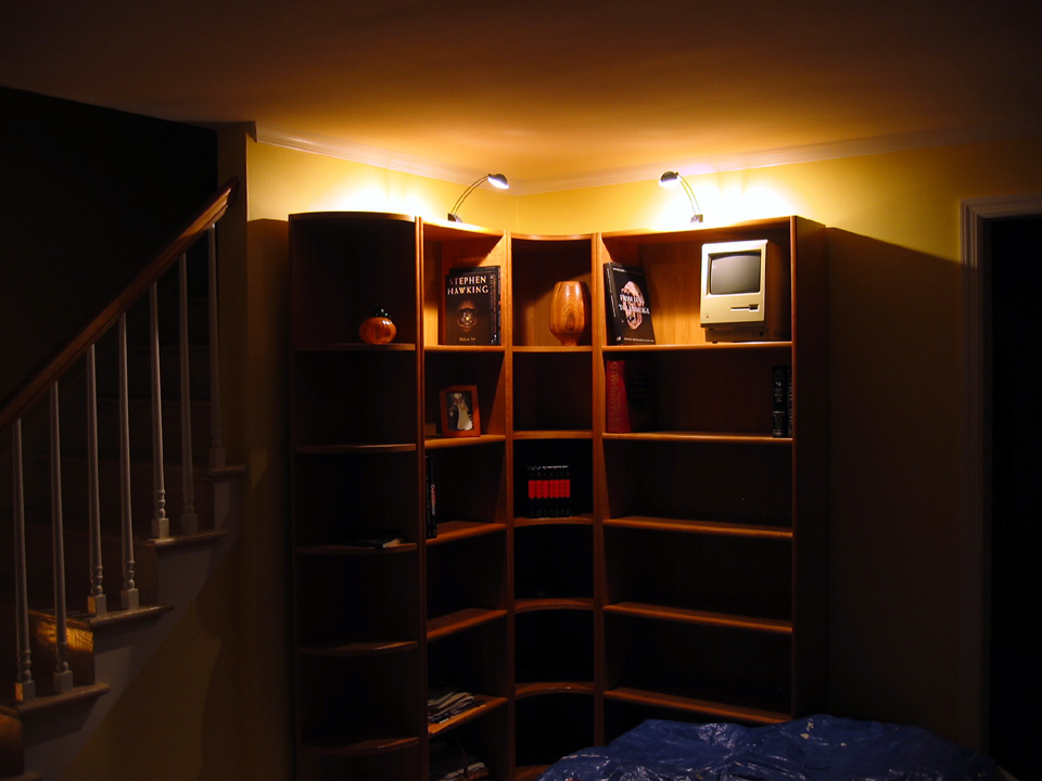 Speakers on an L-shaped bookshelf system - L/R crossover... ? - Audio ...